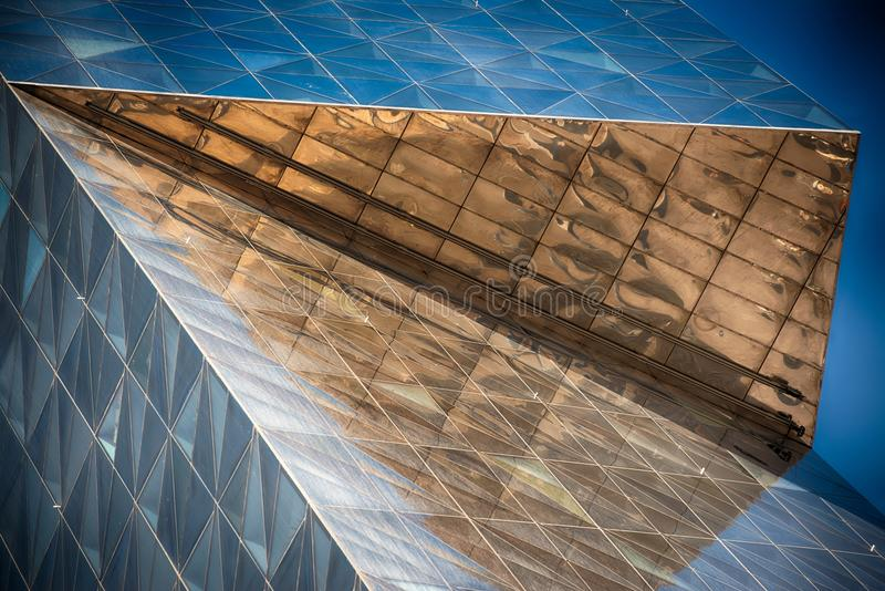Modern glass building in abstract royalty free stock images