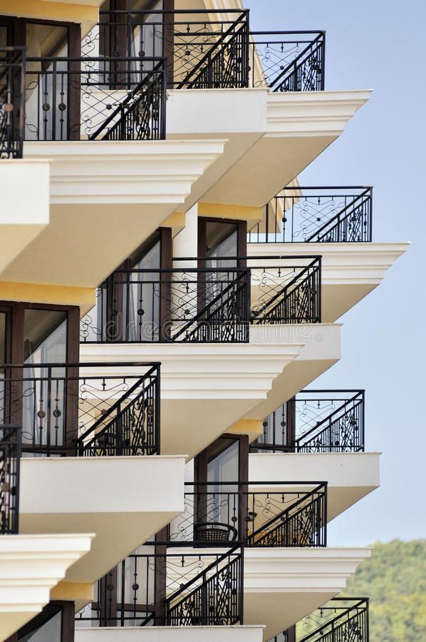 Detail of modern resort architecture building. In sunlight royalty free stock photo