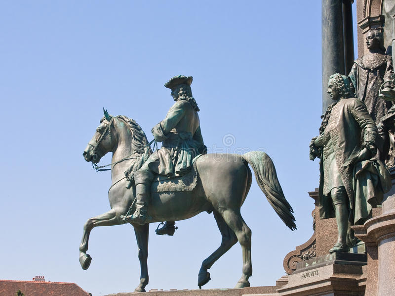 Detail of the monument to Maria Theresa. Vienna. Austria royalty free stock photography