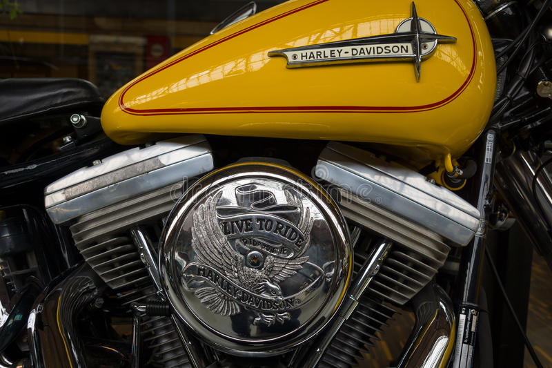 Detail of motorcycle Harley-Davidson stock photo