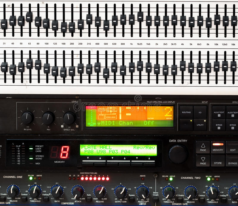 Download Detail Of Music Mixing Console Stock Image - Image: 14145239
