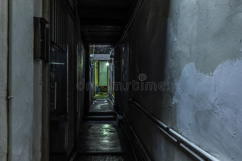 Detail of the narrow alleys of the walled village of Tsang Tai Uk also known as Shan Ha Wai in the Honk Kong New Territories - 4. Detail of the narrow alleys of royalty free stock images