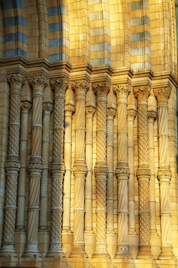 Detail Of National History Museum In London Royalty Free Stock Photos