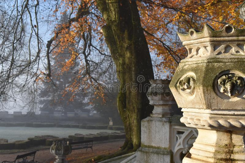 Detail Neo-Gothic chateau hotel in South Bohemia stock photo
