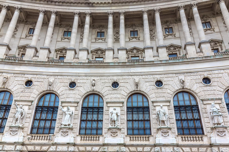 Detail from Neue Burg in Vienna stock images