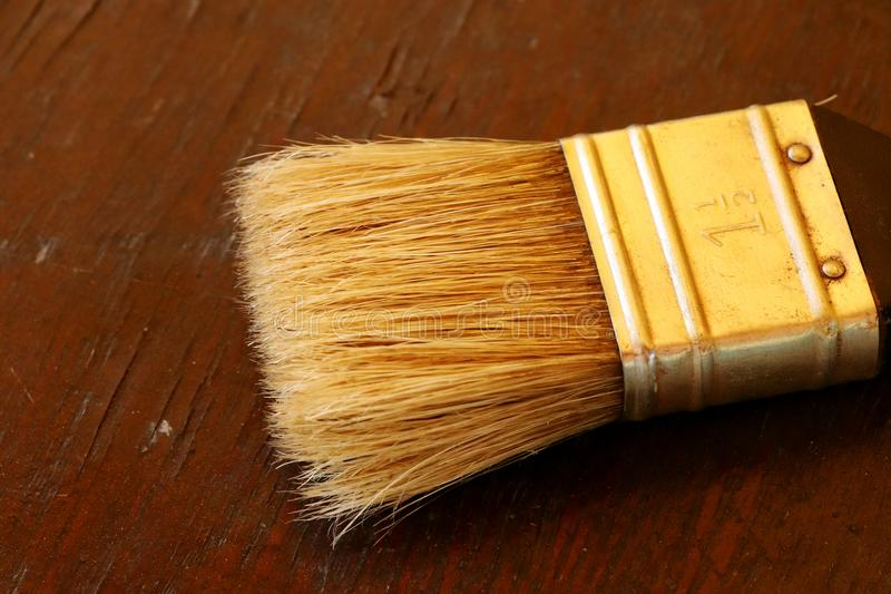 A detail for new brush for painting wall, wood board and others. It is basic thing for painter stock image