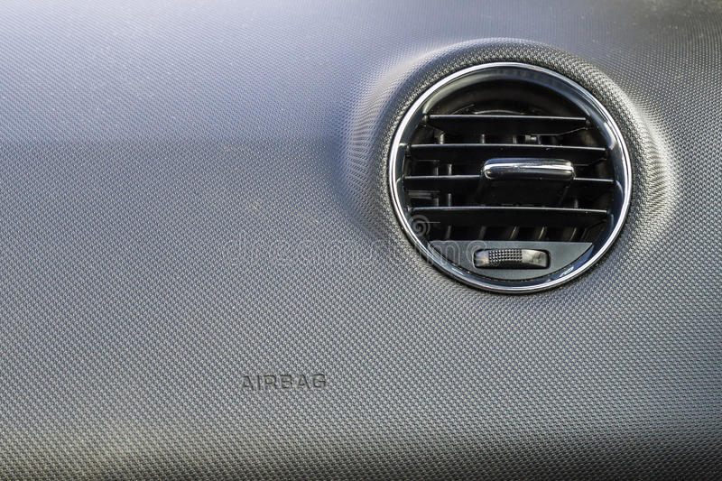 Detail of new modern car interior, Focus on heating ventilation. System royalty free stock image
