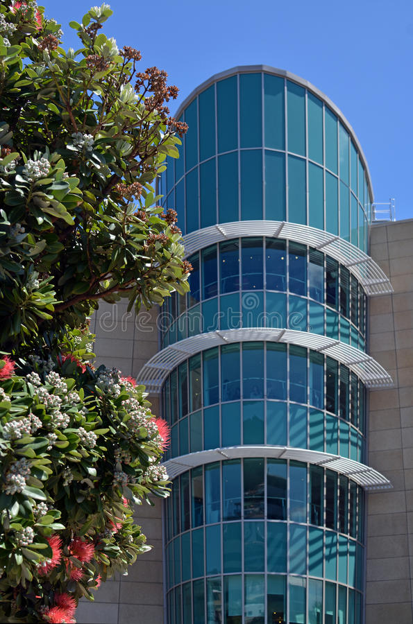 Detail of The New Zealand Te Papa Tongarewa Museum building. royalty free stock photo