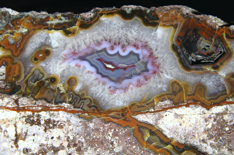 Detail of nice agate mineral background stock photo