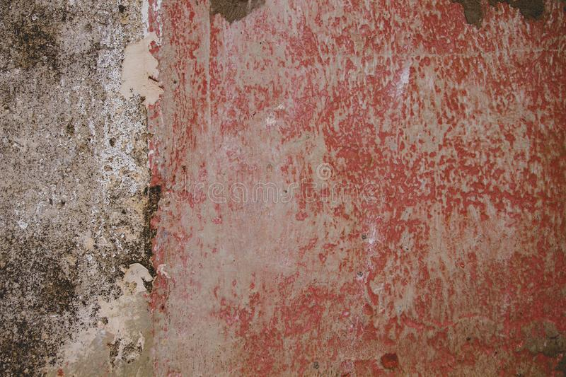 Old grungy red wall stock images