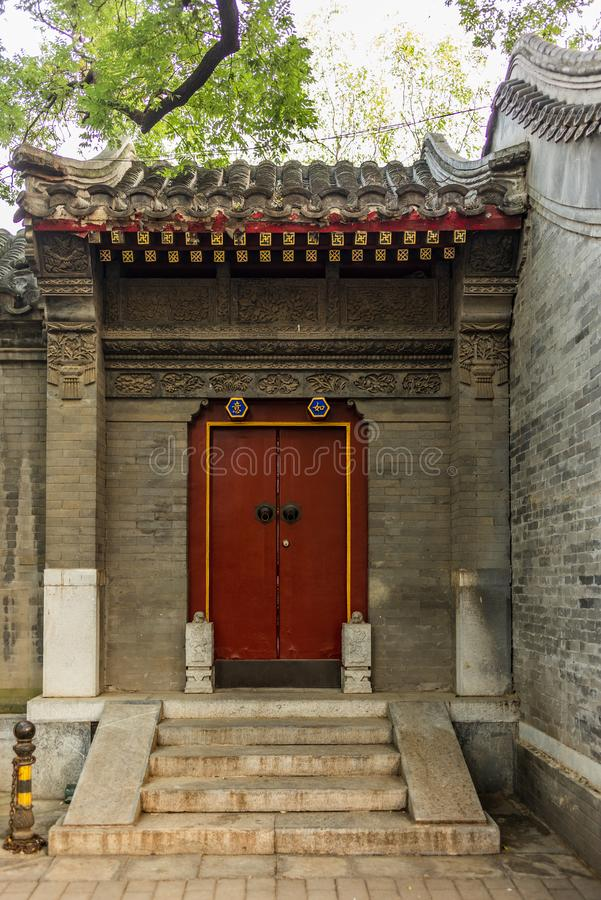 Free Detail Of A House Entrance In A Traditional Beijing Hutong In Ch Stock Image - 129356661