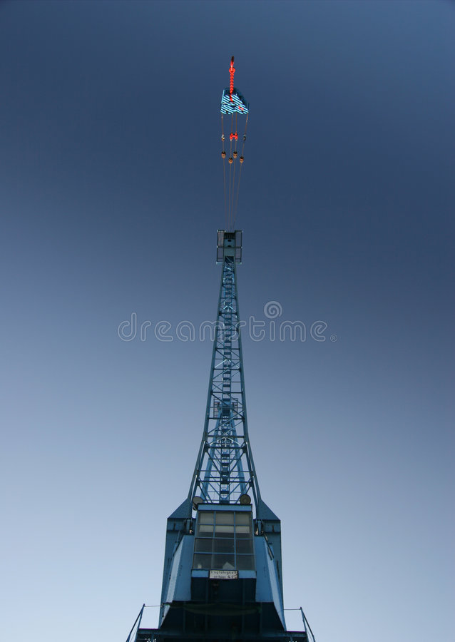 Free Detail Of A Huge Port Crane In Blue Sky Royalty Free Stock Photo - 1802725