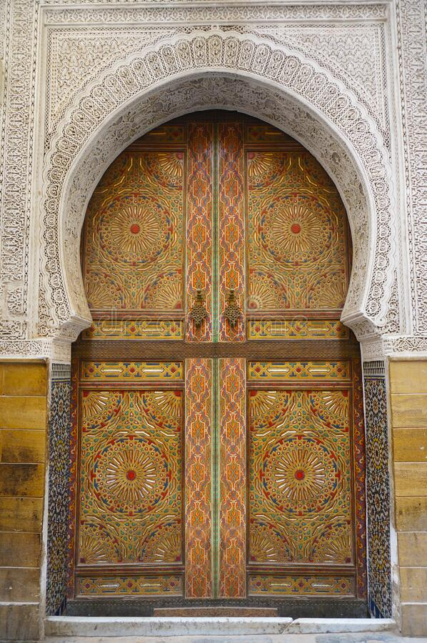 Free Detail Of Door In Moroccan Building Stock Images - 169836404