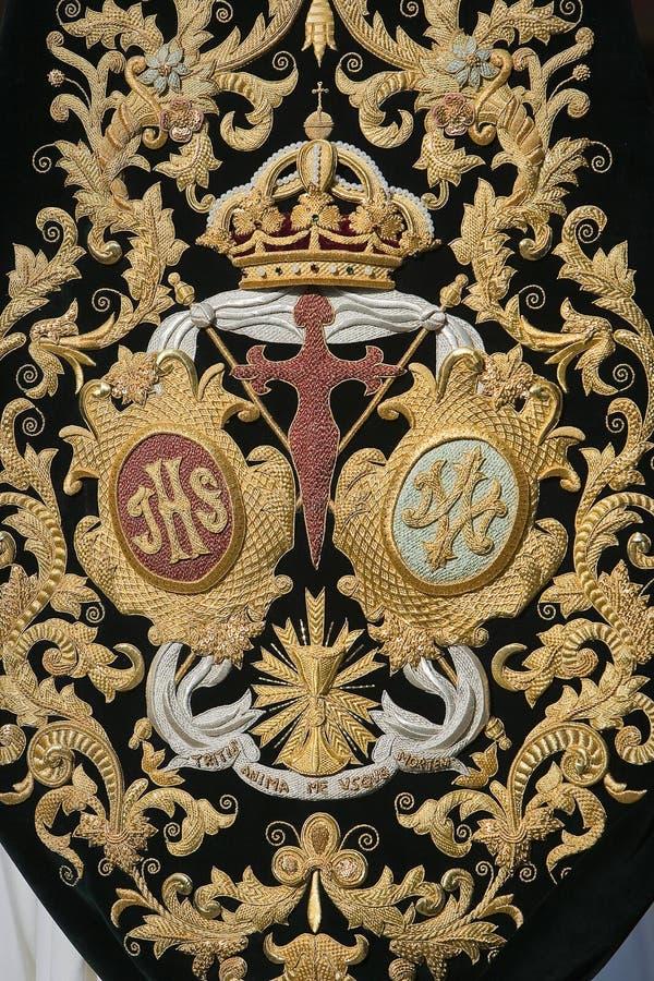Free Detail Of Embroidery On Velvet Dark Green Stock Image - 34735271