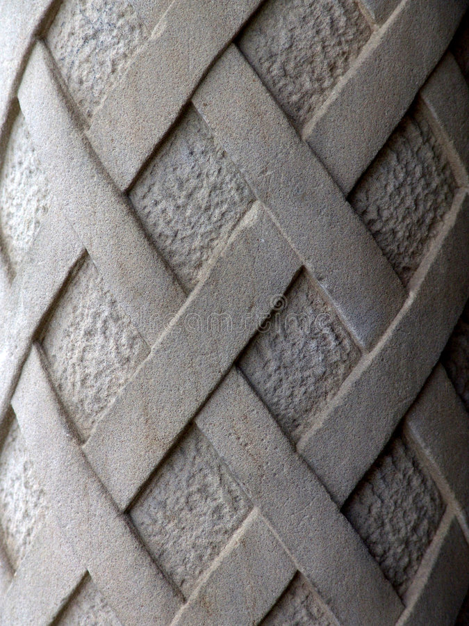 Detail of Old Carved Cement Column royalty free stock photography