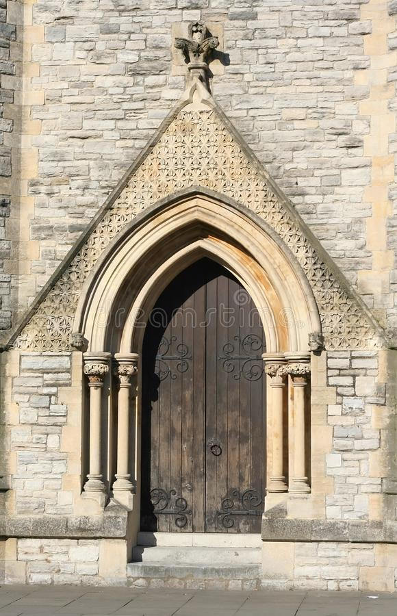 Detail Of An Old Church Or Castle Door Royalty Free Stock Photo