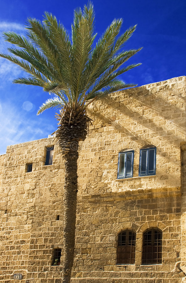 Detail of old city Jaffa stock images