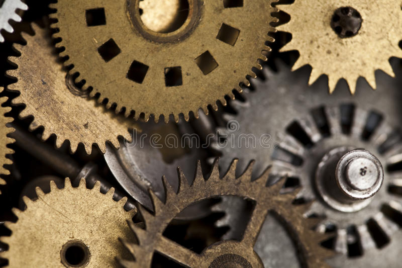 Detail of old gears royalty free stock image