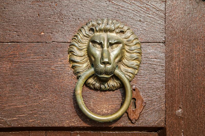 A detail of an old knocker stock images