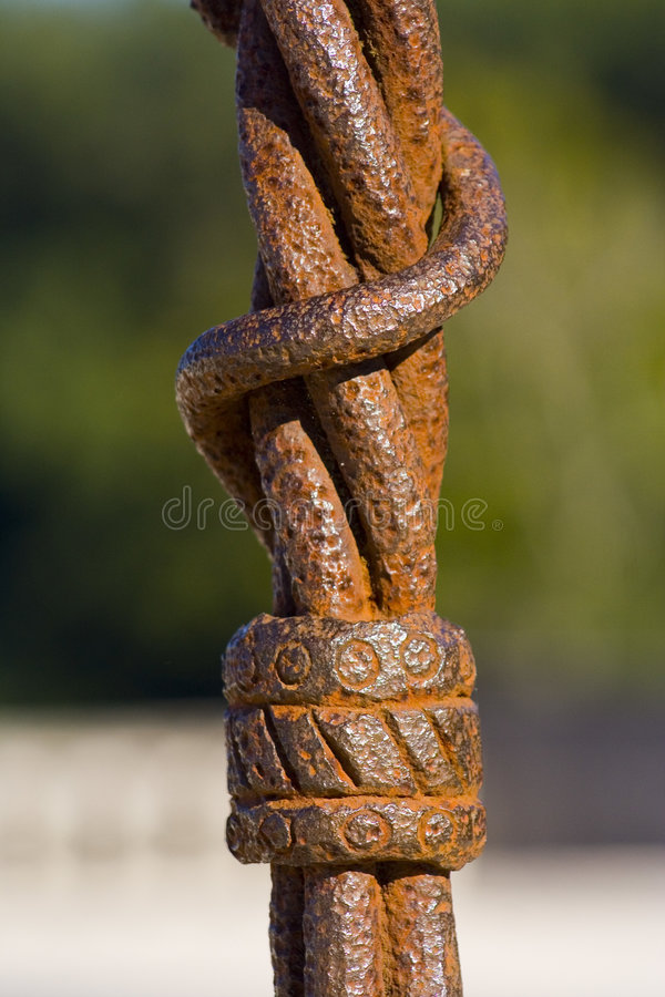 Detail of an old metal object stock photo