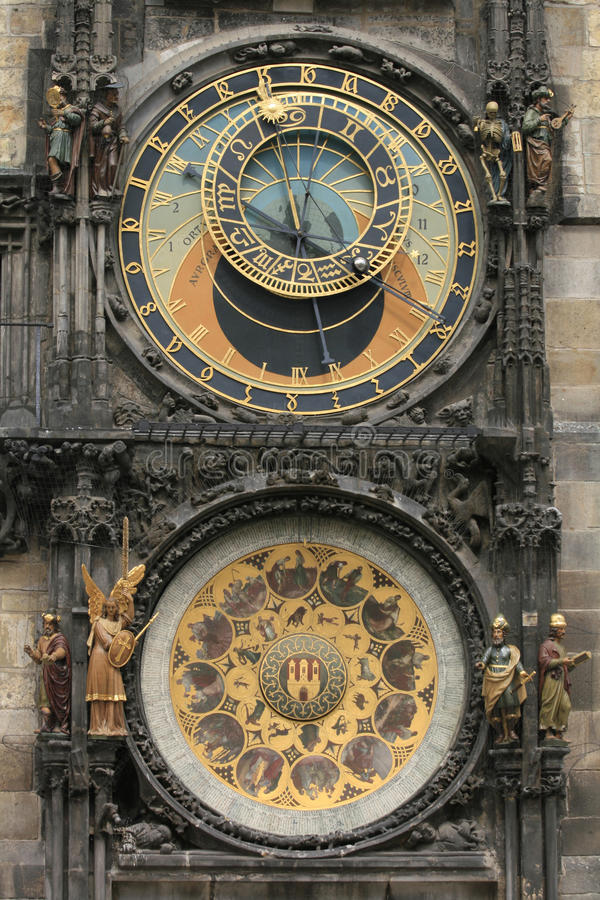 Download Detail of old prague clock stock photo. Image of castle - 10198848