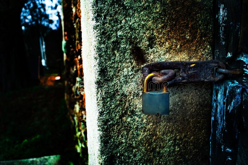 Detail of an old,rusty lock. royalty free stock photography
