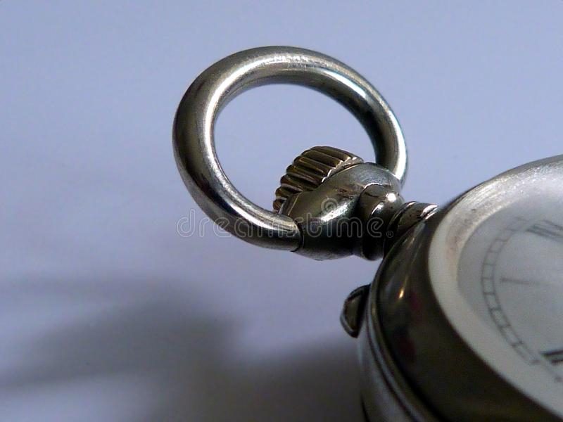 close-up detail of old silver pocket watch with selective focus royalty free stock images