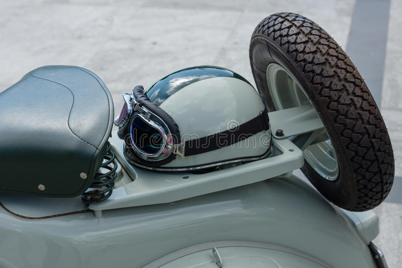 Detail of an old vespa stock photo