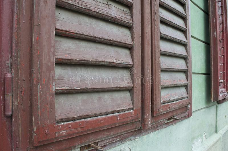 Detail of an old window shutter royalty free stock photos