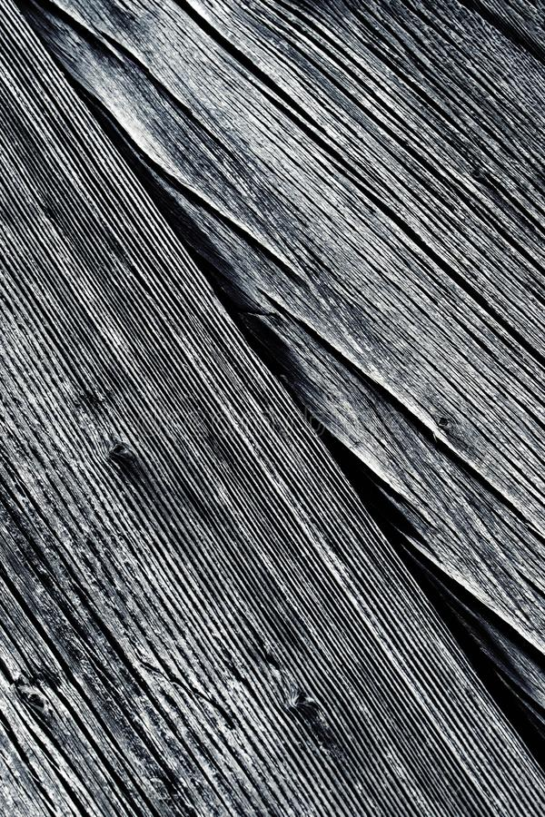 Detail of old wood with longitudinal grooves royalty free stock photo