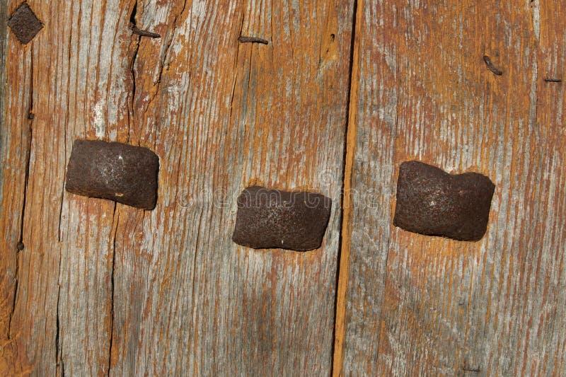 Detail Of Old Wooden Door royalty free stock photos