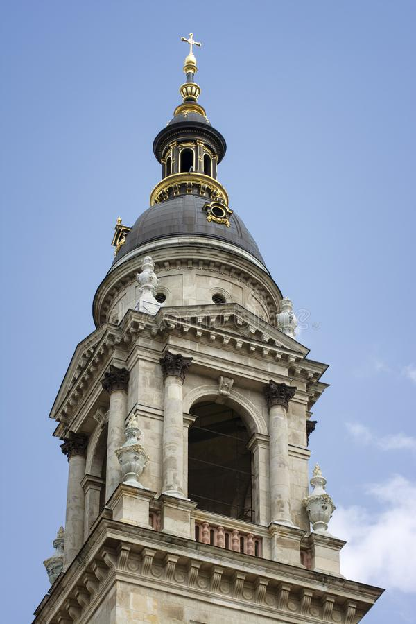 Detail From One Of The Towers of  St. Stephen`s Basilica stock photos