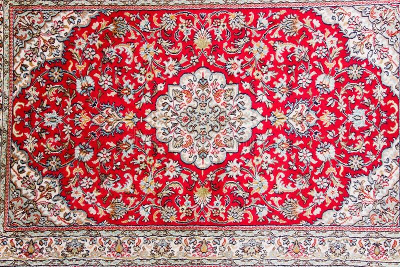 Detail of oriental carpet pattern royalty free stock image