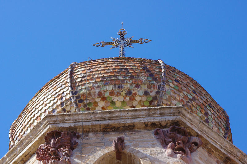 Detail of the Oristano Cathedral stock image