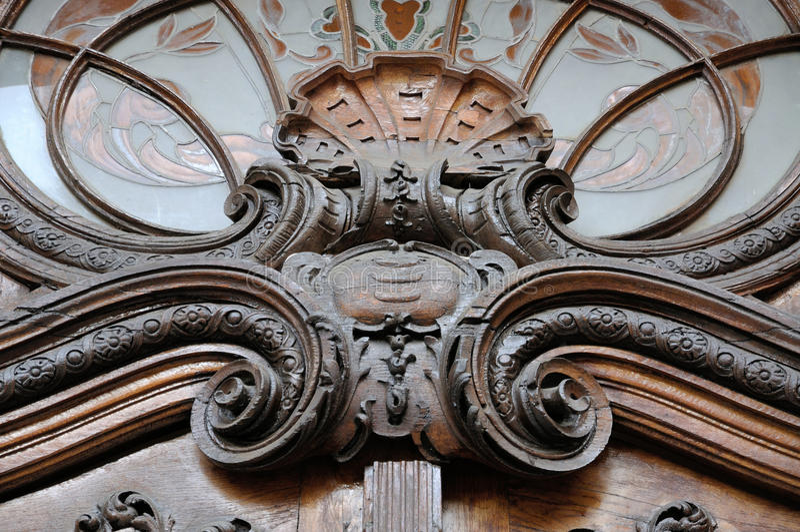 Detail oude poort - hoofdingang aan royalty-vrije stock foto