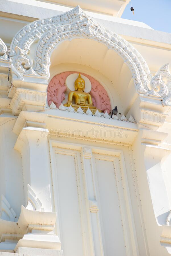 Wat Phra That Bang Phuan is the old temple in Nongkhai of Thailand. Detail pagoda of Wat Phra That Bang Phuan is the old temple in Nongkhai of Thailand stock photos