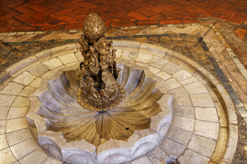 Detail in the Palace of Sintra. SINTRA, Portugal, April 7, 2017 : Detail in the Palace of Sintra, for a long time the residence of Royal family during the summer royalty free stock photo