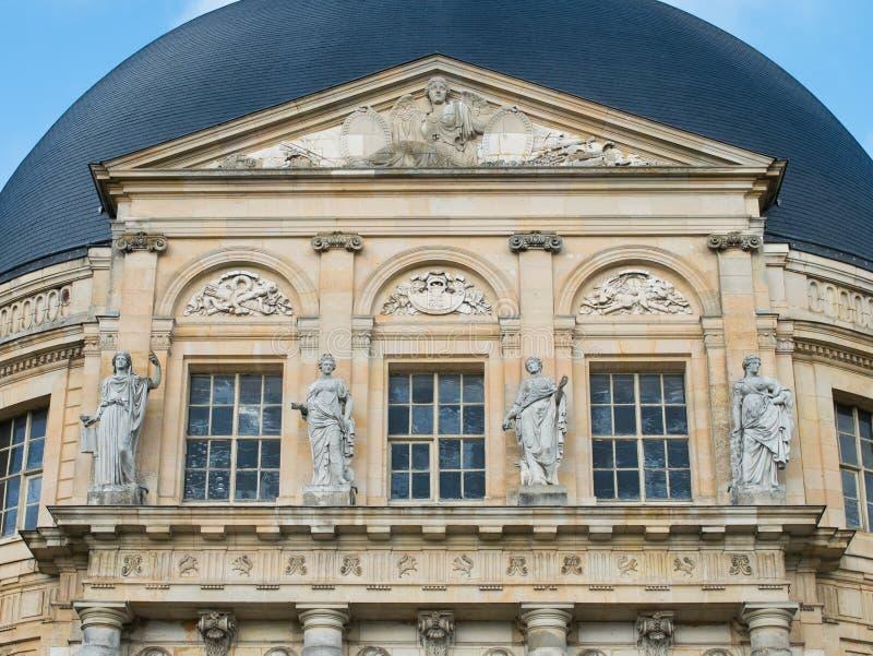 Detail of Palace Vaux-le-Vicomte. Detail of Entrance Hall Vaux-le-Vicomte at Melun near Paris stock photos