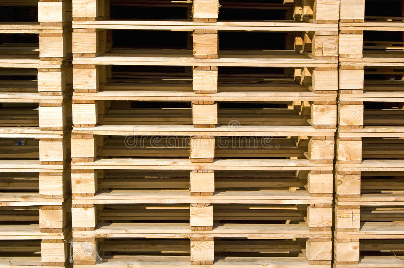 Detail of pallets stock photography