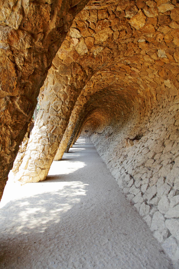 Download Detail Of Park Guell, Designed By Antonio Gaudi Stock Image - Image: 18122227