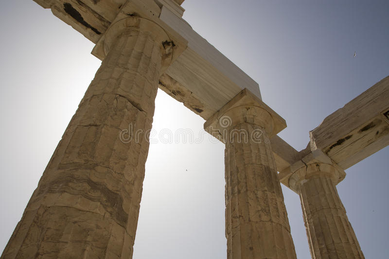 Detail of the Parthenon, Athens, Greece stock images