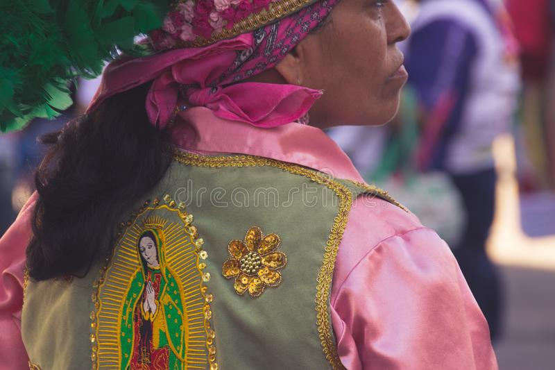 Detail from peregrination to Basilica of Guadalupe in Monterrey royalty free stock photos