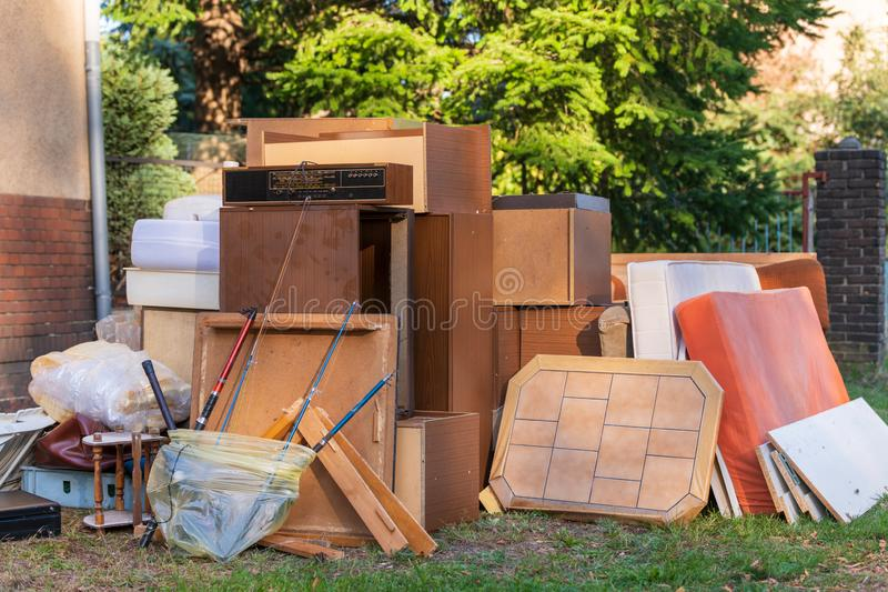 Detail view of bulky waste royalty free stock images
