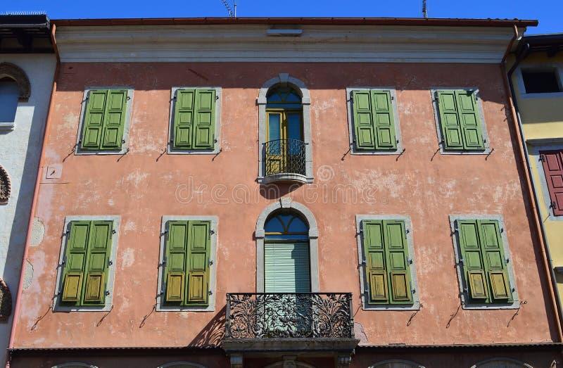 Detail Piazza Paolo Diacono Cividale del Friuli Italien lizenzfreies stockfoto