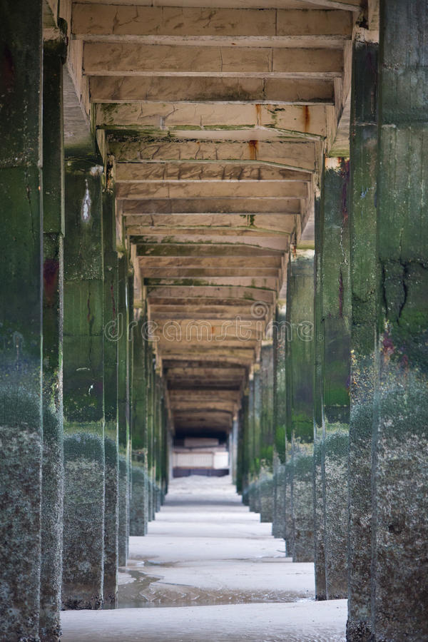 Detail of pier in Zeebrugge, Belgium. royalty free stock photo