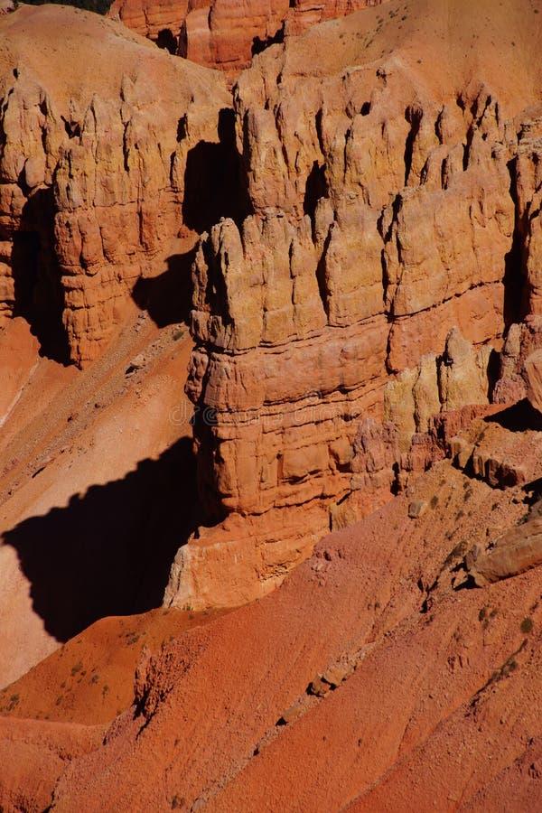 Detail, Pinnacles And Hoodoos Of Red Navajo Sandstone Stock Photography