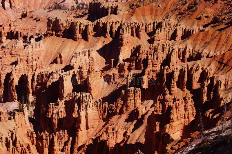 Detail, pinnacles and hoodoos of red Navajo sandstone stock photo