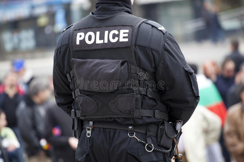 Download Detail of a police officer stock photo. Image of forces - 30177532