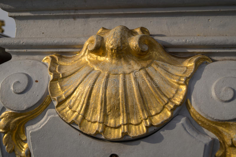 Detail of Pont Alexandre III royalty free stock photos
