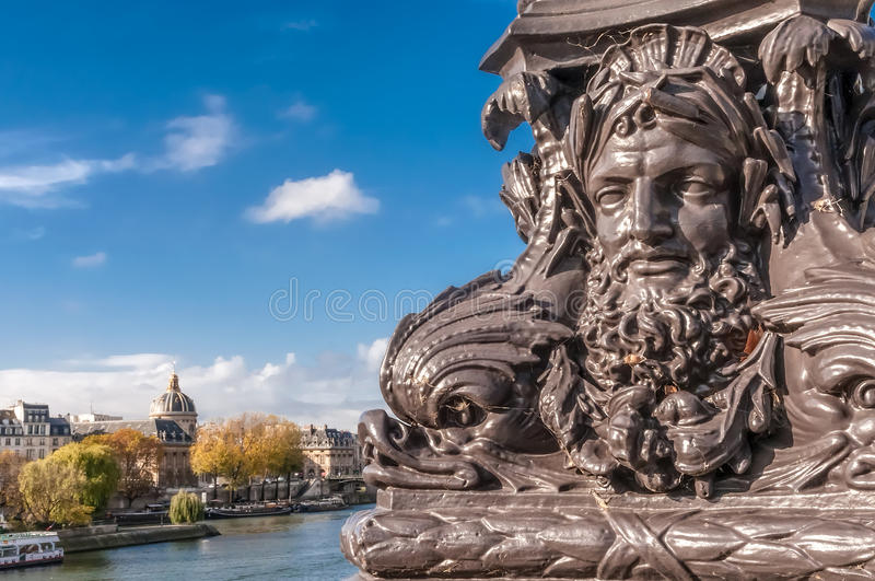Detail of the Pont Neuf royalty free stock photo